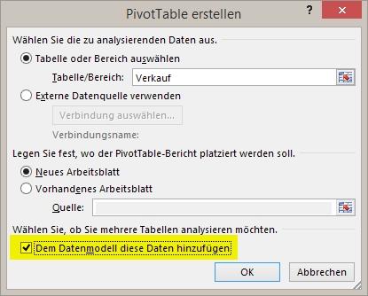 Excel - Datenverwaltung und -bearbeitung - PivotTable mit PowerPivot ...
